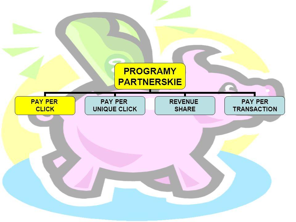 PROGRAMY PARTNERSKIE PAY PER CLICK PAY PER UNIQUE CLICK REVENUE SHARE PAY PER TRANSACTION