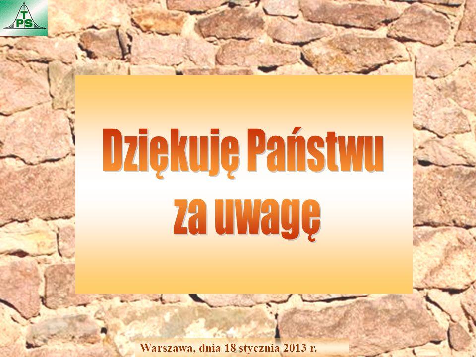30 Warszawa, dnia 18 stycznia 2013 r.