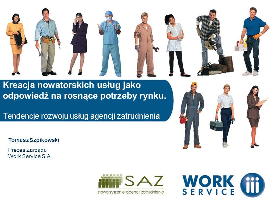 Jesteśmy Numerem 1 w Polsce, staliśmy się liderem polskiego rynku pracoserwisu, czyli wszystkich usług związanych z pracą Współpracujemy z ponad 500 Klientami W Polsce i Europie działamy przez sieć nowocześnie zarządzanych placówek w Polsce: 25 oddziałów, 150 konsultantów w Europie: obecność w ponad 10 krajach Każdego roku dzięki nam pracę znajduje blisko 100.000 osób Lider rynku pracoserwisu Włocławek Bielsko- Biała Krosno Dębica Ostrołęka Sulęcin Radom Siedlce Nowy Dwór Mazowiec ki
