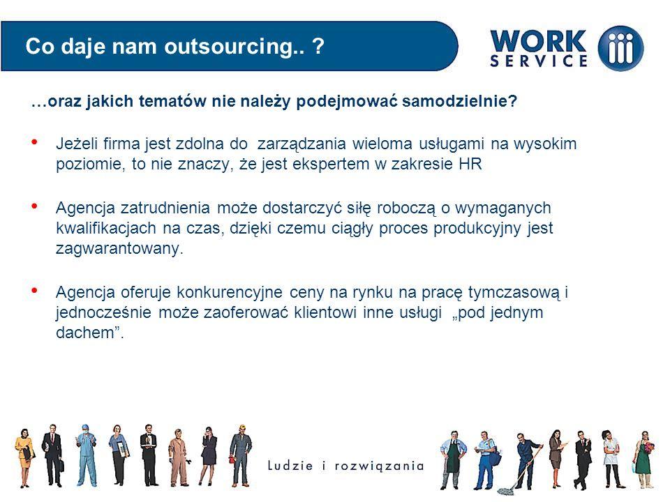 Co daje nam outsourcing.. ? Jeżeli firma jest zdolna do zarządzania wieloma usługami na wysokim poziomie, to nie znaczy, że jest ekspertem w zakresie