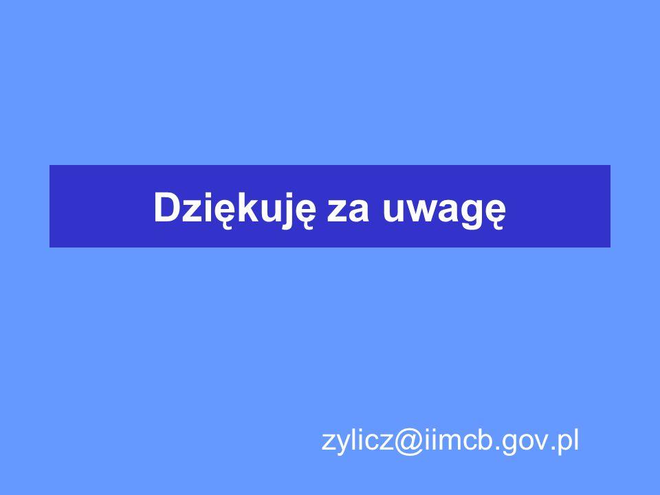 Dziękuję za uwagę zylicz@iimcb.gov.pl