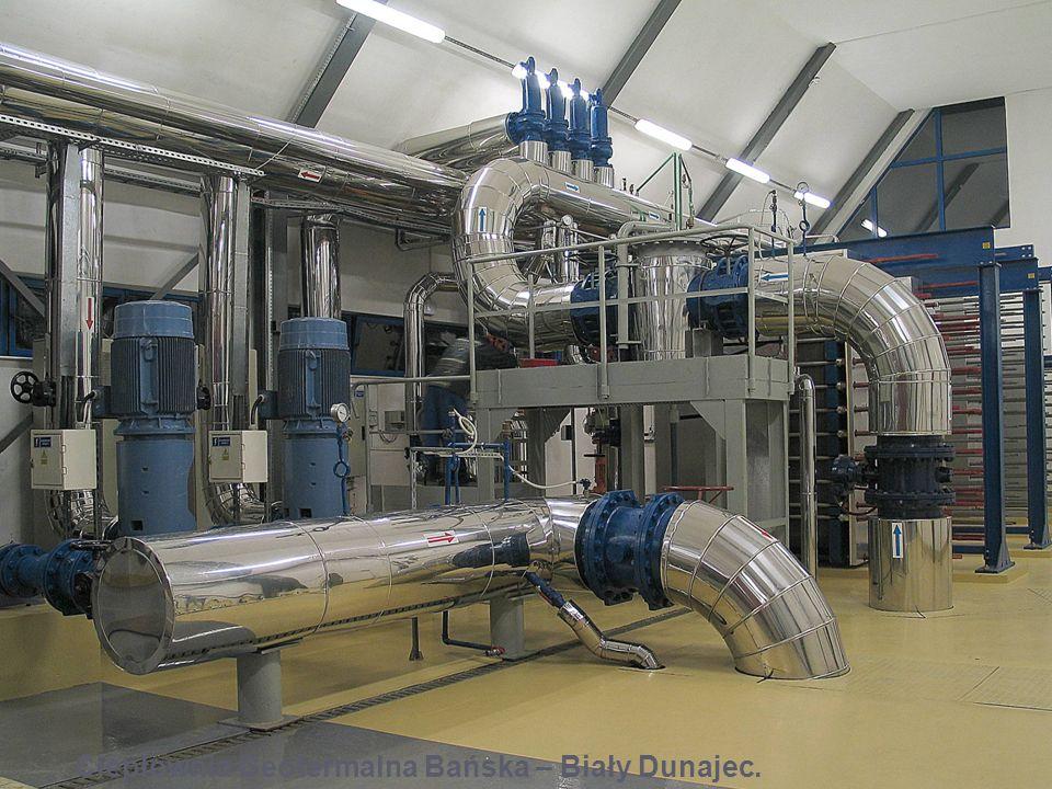 Filtry wody geotermalnej (pompownia geotermalna). Pompownia Geotermalna - Biały Dunajec.
