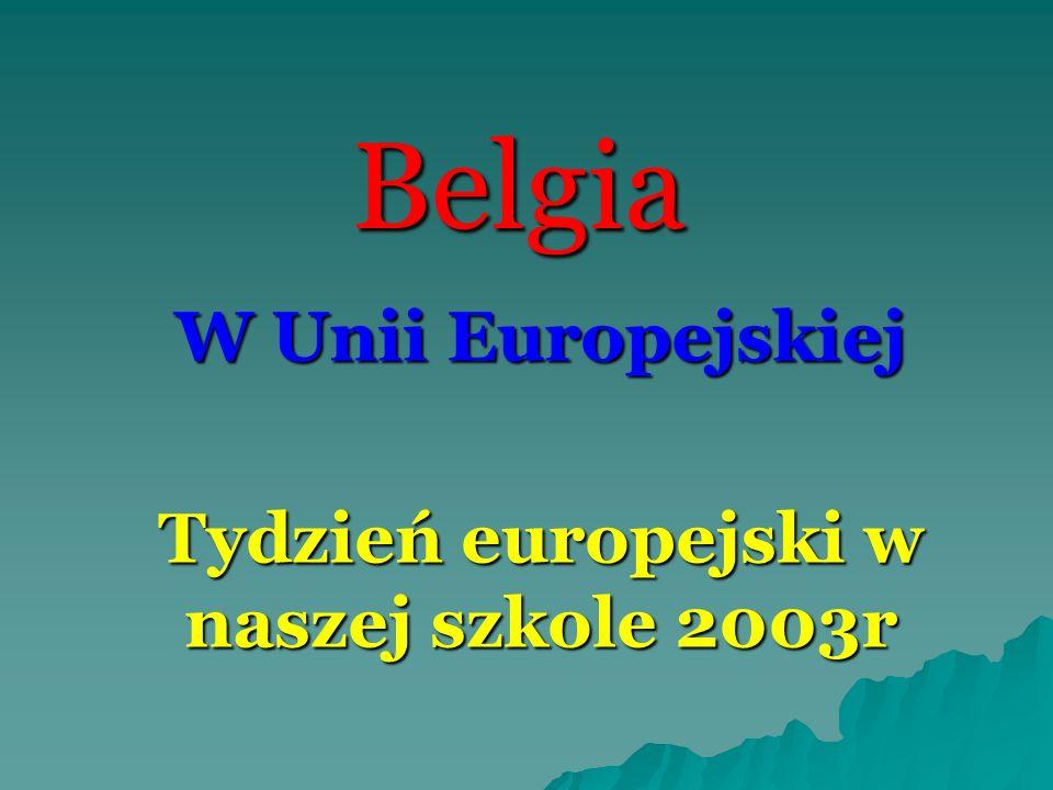 Belgia W Unii Europejskiej Tydzień europejski w naszej szkole 2003r