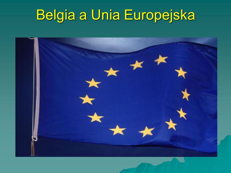 INFORMACJE PRAKTYCZNE INFORMACJE PRAKTYCZNE Stolica: Bruksela Stolica: Bruksela –Powierzchnia: 30 518 km2 –Podział administracyjny: 3 regiony: Flandria, Walonia i region stołeczny Bruksela –Ludność: 10 213 000 –Język urzędowy: francuski, flamandzki –Skład etniczny: Belgowie 91,1%; Włosi 2,8%; Marokańczycy 1,1%; Francuzi 1,1%; Holendrzy 0,7%; Turcy 0,6%; inni 2,6% –Wyznanie: katolicy 90,0%; muzułmanie 1,1%; protestanci 0,4%; bezwyznaniowcy 7,5%; inni 1,0% –Jednostka monetarna: euro, dawniej 1 frank belgijski = 100 centymów –PKB: 24 002 USD na osobę –Średnia długość życia: mężczyźni 70 lat; kobiety 76,8 roku –Surowce mineralne: węgiel kamienny, rudy cynku, miedzy i ołowiu –Wyroby przemysłowe: tworzywa sztuczne, wyroby włókiennicze, maszyny, artykuły luksusowe (diamenty) –Uprawy: pszenica, jęczmień, buraki cukrowe, ziemniaki, tytoń, chmiel, len –Władza ustawodawcza: król oraz dwuizbowy parlament, składający się Izby Deputowanych (212 członków wybieranych w wyborach powszechnych) oraz Senatu (182 członków, z czego 106 pochodzi z wyborów powszechnych) –Siły zbrojne: armia lądowa 67 800, marynarka wojenna 4700, lotnictwo 19 900 –Ustrój: monarchia konstytucyjna –Władza wykonawcza: rząd na czele z premierem –Konstytucja: 7 lutego 1831 r.