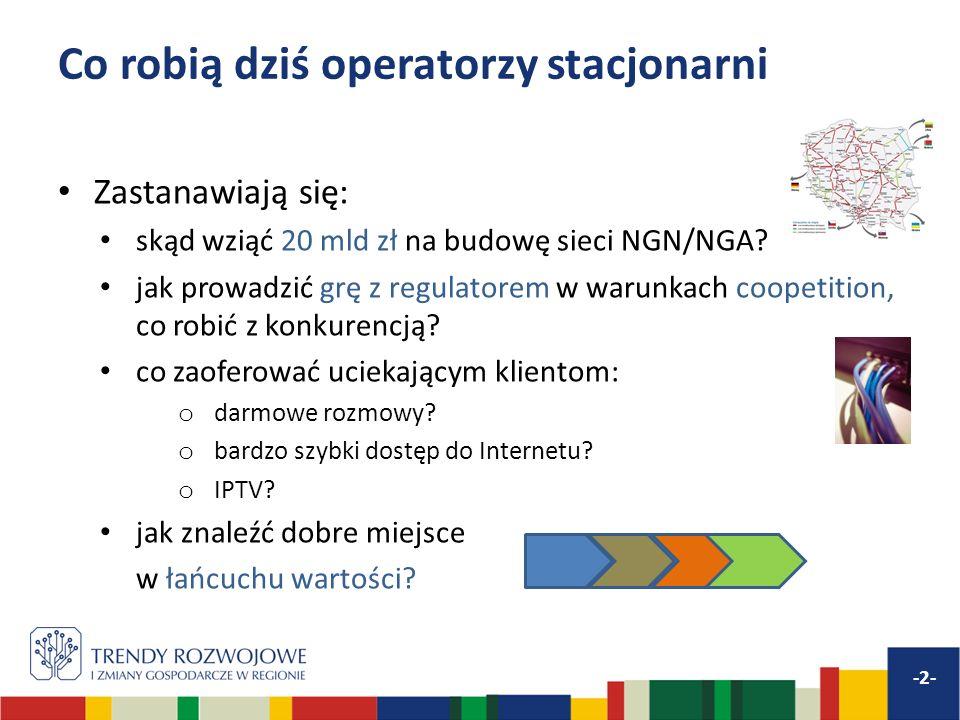 Co robią dziś operatorzy stacjonarni -2- Zastanawiają się: skąd wziąć 20 mld zł na budowę sieci NGN/NGA.