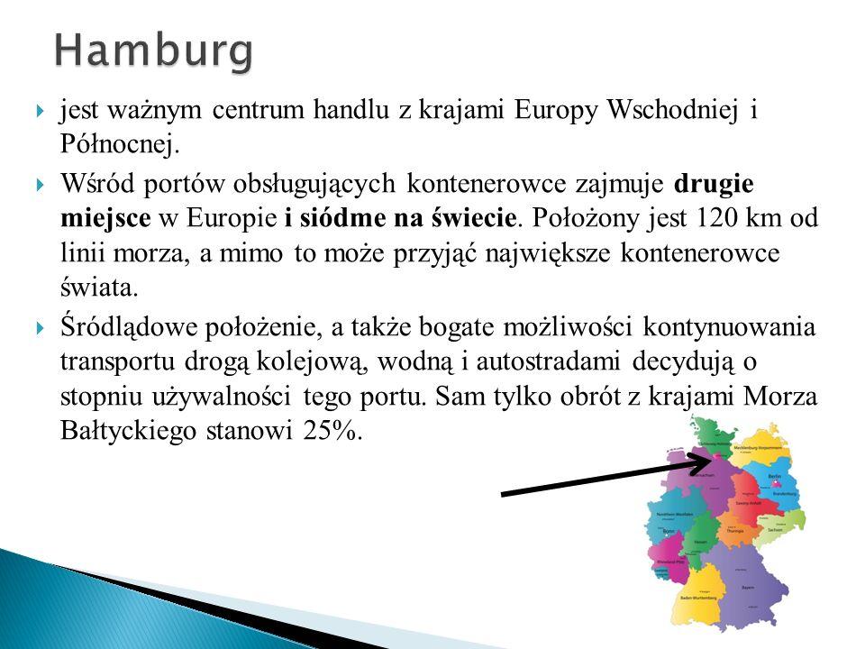 jest ważnym centrum handlu z krajami Europy Wschodniej i Północnej. Wśród portów obsługujących kontenerowce zajmuje drugie miejsce w Europie i siódme
