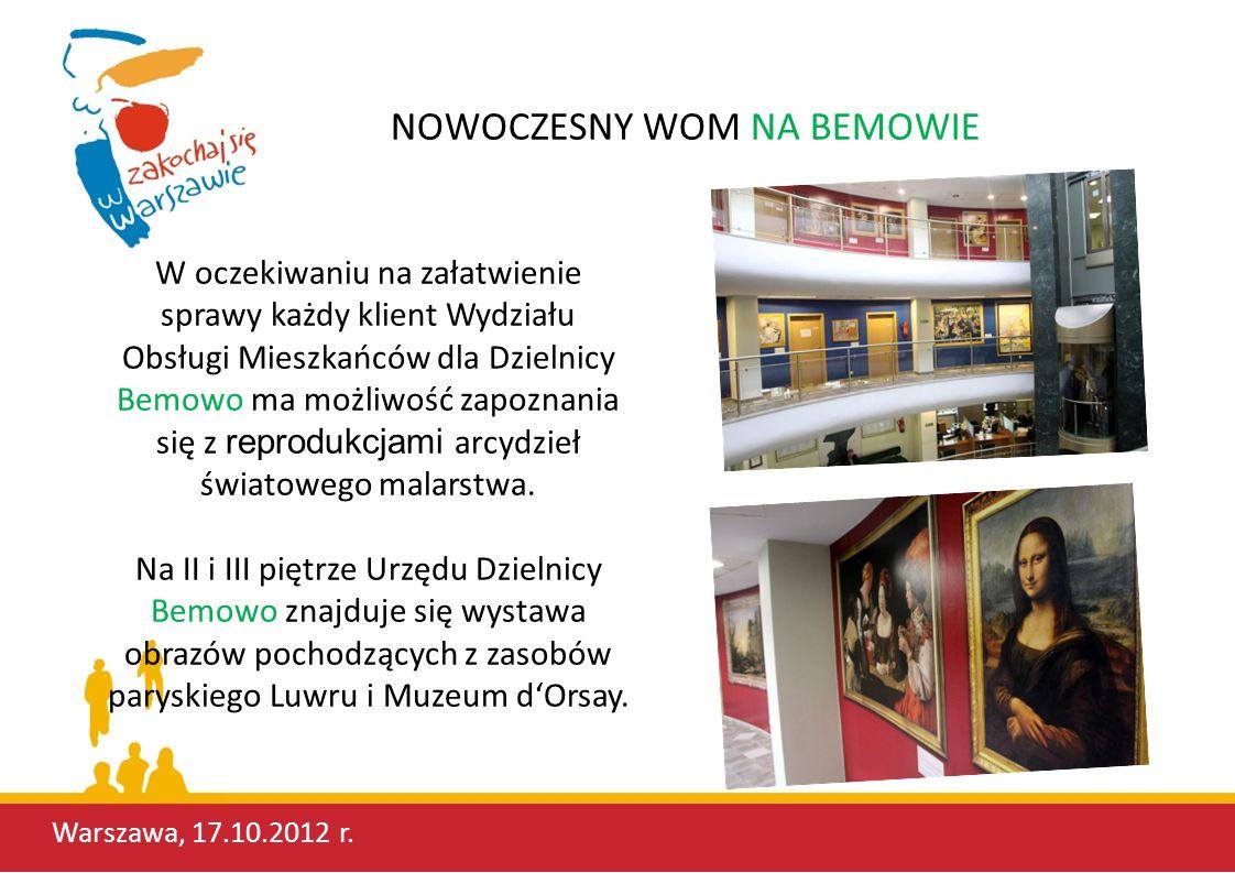Tylko od stycznia do września bieżącego roku Wydział Obsługi Mieszkańców dla Dzielnicy Bemowo obsłużył 85 058 mieszkańców naszej Dzielnicy.