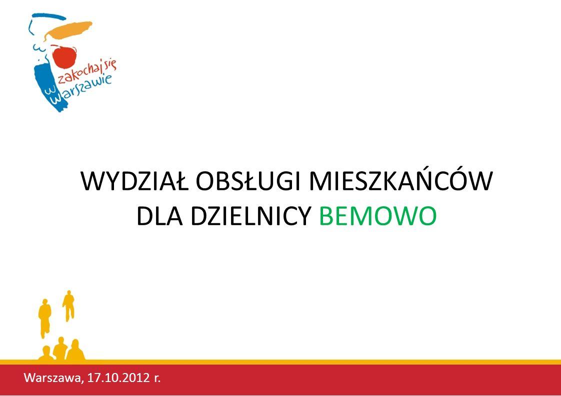 Bemowski Wydział Obsługi Mieszkańców to laureat dwóch poprzednich edycji konkursu na najlepszy warszawski WOM (lata 2009 i 2010).