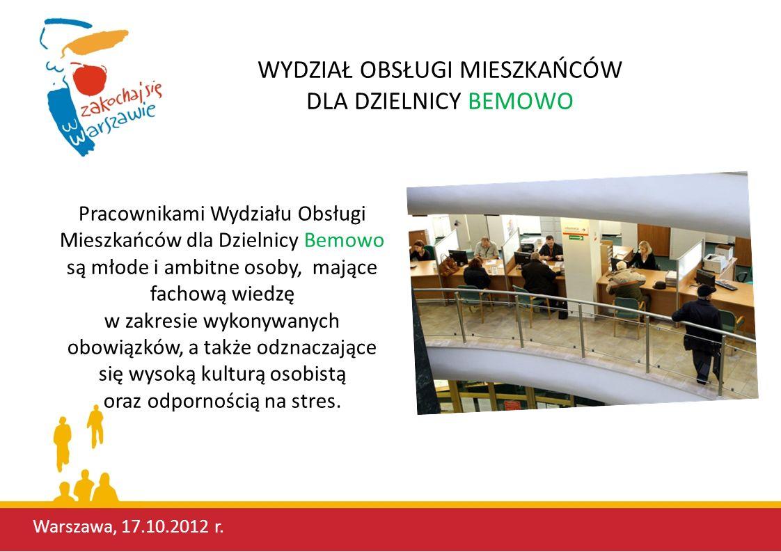Bemowski Wydział Obsługi Mieszkańców to nowoczesne i przyjazne miejsce.