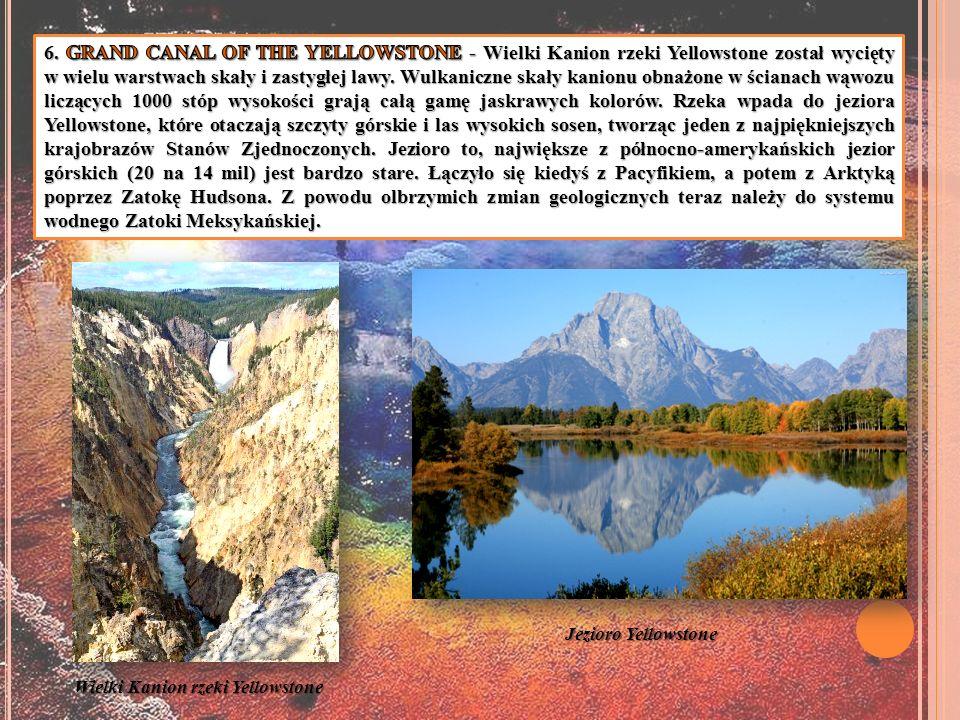 Wielki Kanion rzeki Yellowstone Jezioro Yellowstone
