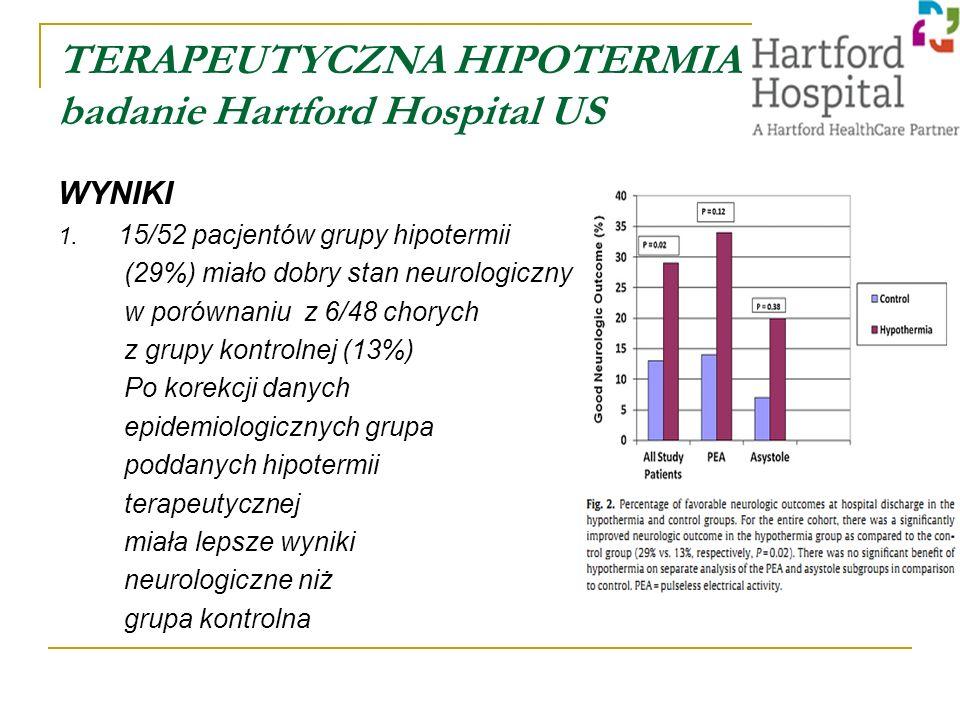TERAPEUTYCZNA HIPOTERMIA badanie Hartford Hospital US WYNIKI 1.