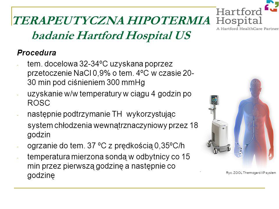 TERAPEUTYCZNA HIPOTERMIA badanie Hartford Hospital US Procedura - tem.