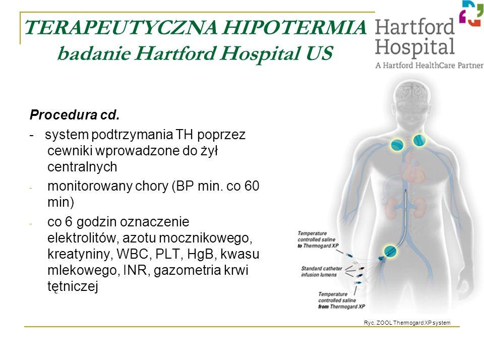 TERAPEUTYCZNA HIPOTERMIA badanie Hartford Hospital US Procedura cd.
