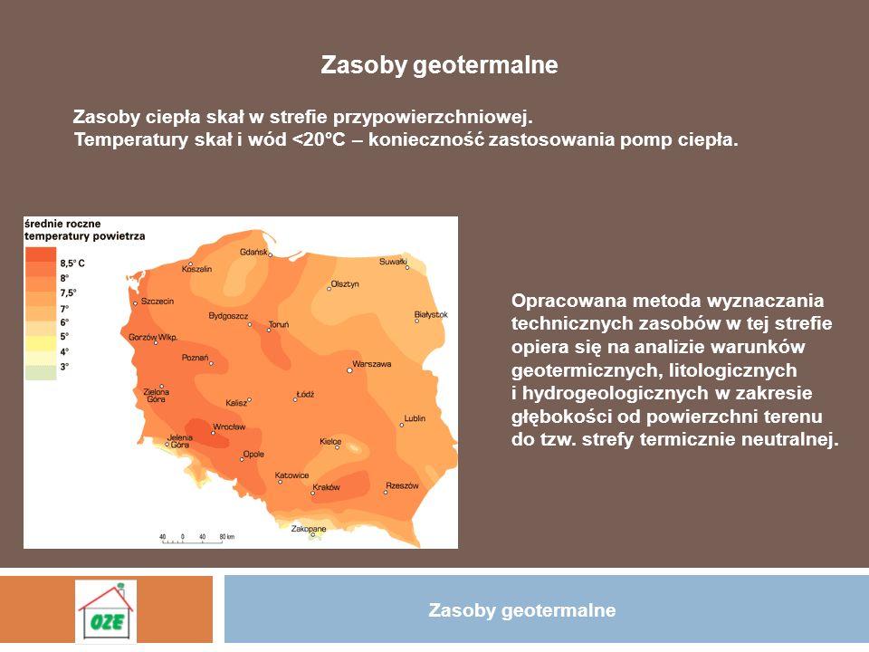 Zasoby geotermalne Parametry strefy termicznie neutralnej dla obszaru Górnego Śląska Głębokość występowania strefy jej temperatura.