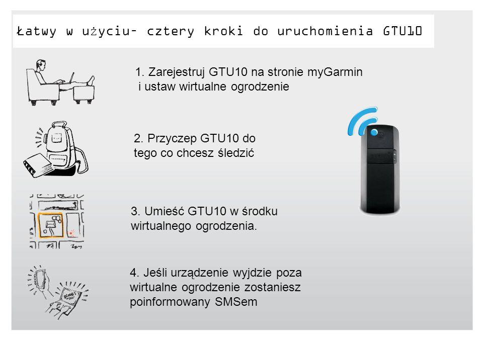 Łatwy w użyciu– cztery kroki do uruchomienia GTU10 2. Przyczep GTU10 do tego co chcesz śledzić 3. Umieść GTU10 w środku wirtualnego ogrodzenia. 4. Jeś
