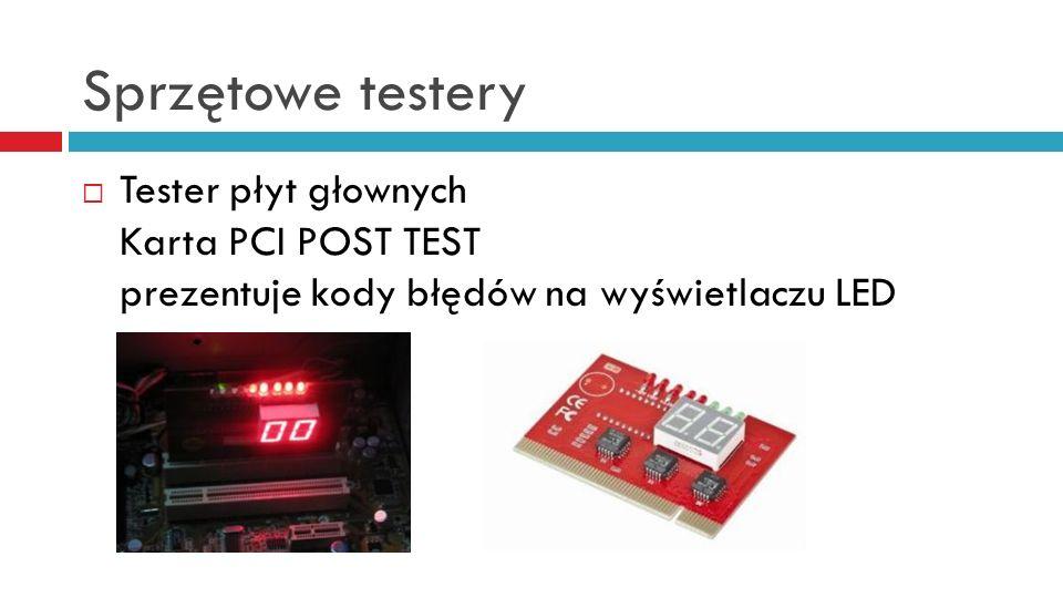 Sprzętowe testery Tester płyt głownych Karta PCI POST TEST prezentuje kody błędów na wyświetlaczu LED
