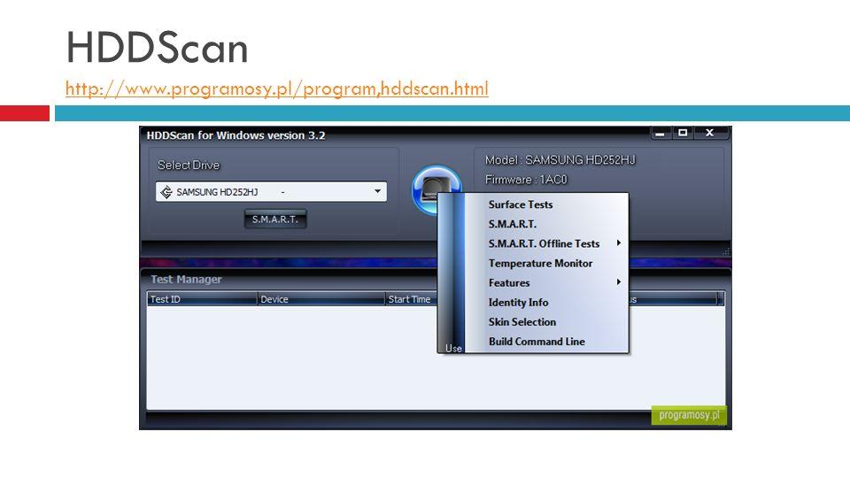 HDDScan http://www.programosy.pl/program,hddscan.html http://www.programosy.pl/program,hddscan.html