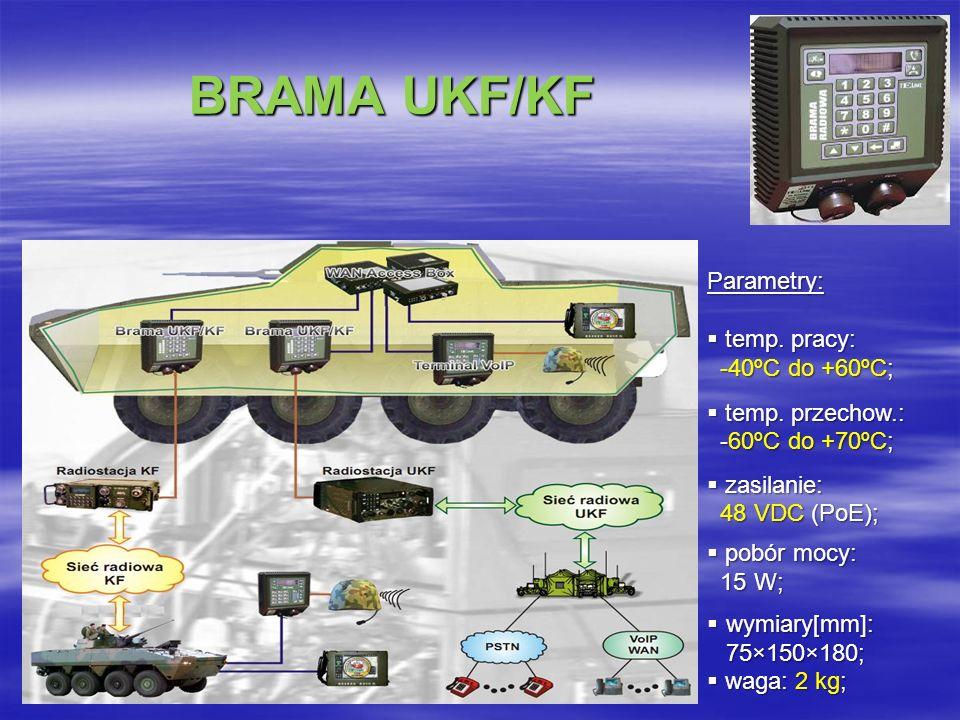 BRAMA UKF/KF BRAMA UKF/KF Parametry: temp.pracy: temp.