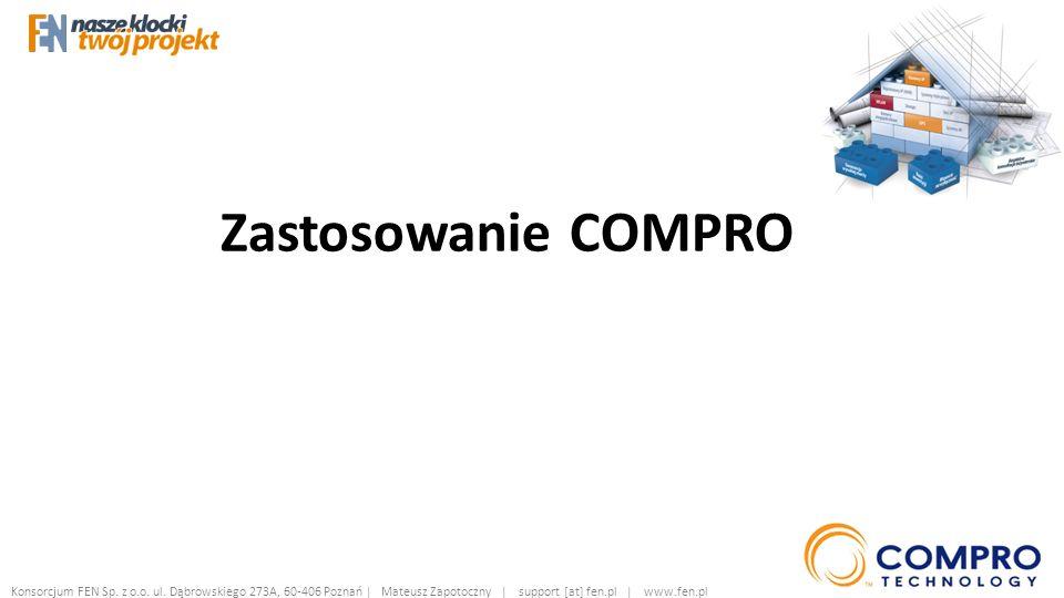 Zastosowanie COMPRO