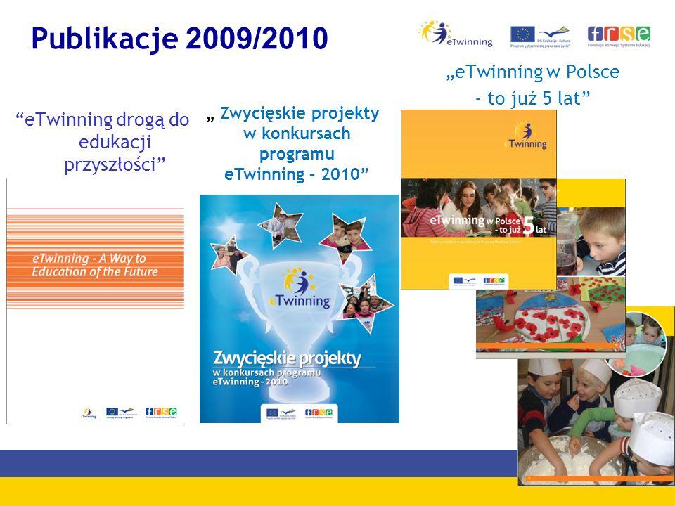 Publikacje 2009/2010 eTwinning drogą do edukacji przyszłości eTwinning w Polsce - to już 5 lat Zwycięskie projekty w konkursach programu eTwinning – 2010