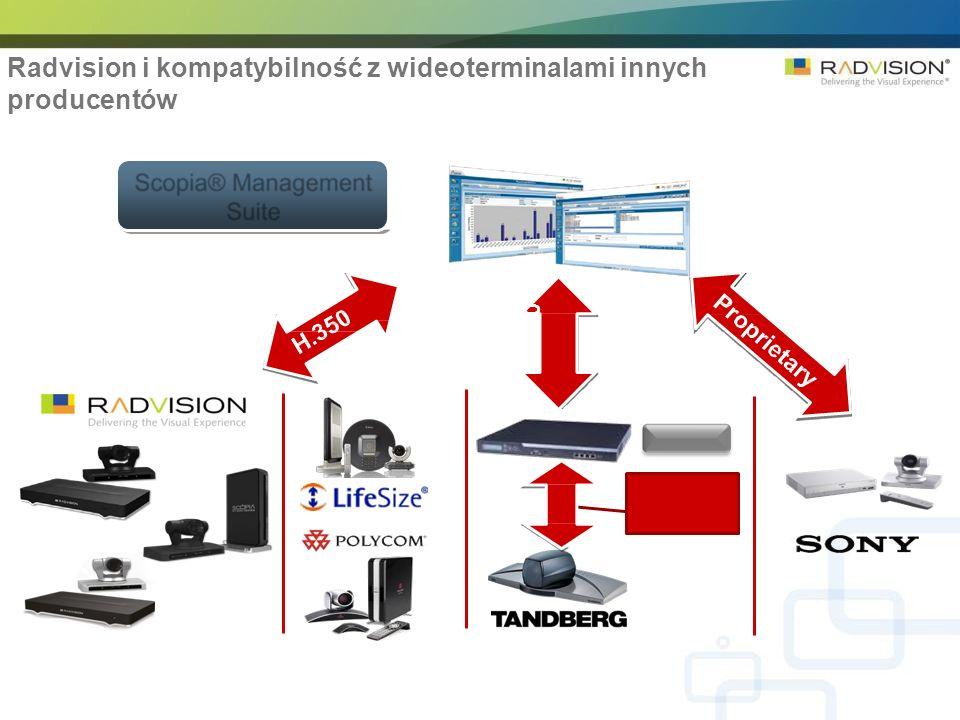 H. 350 Radvision i kompatybilność z wideoterminalami innych producentów