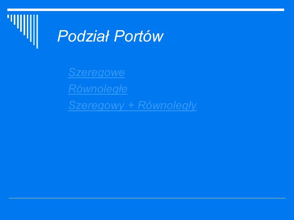 Porty Szeregowe Port szeregowy (ang.