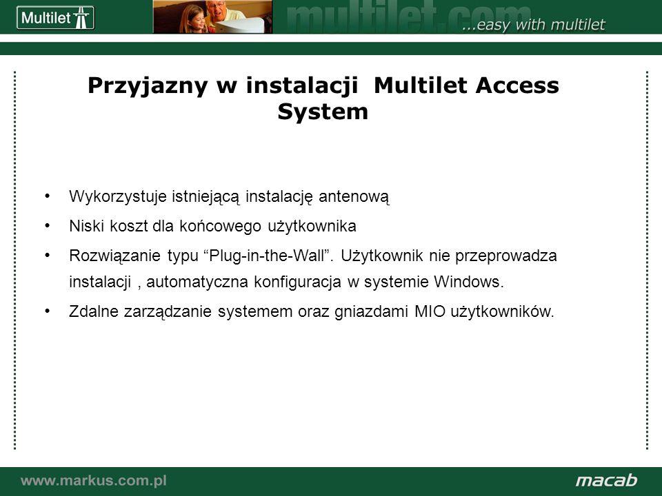 a macab power point presentation© macab ab 020916 Przyjazny w instalacji Multilet Access System Wykorzystuje istniejącą instalację antenową Niski kosz