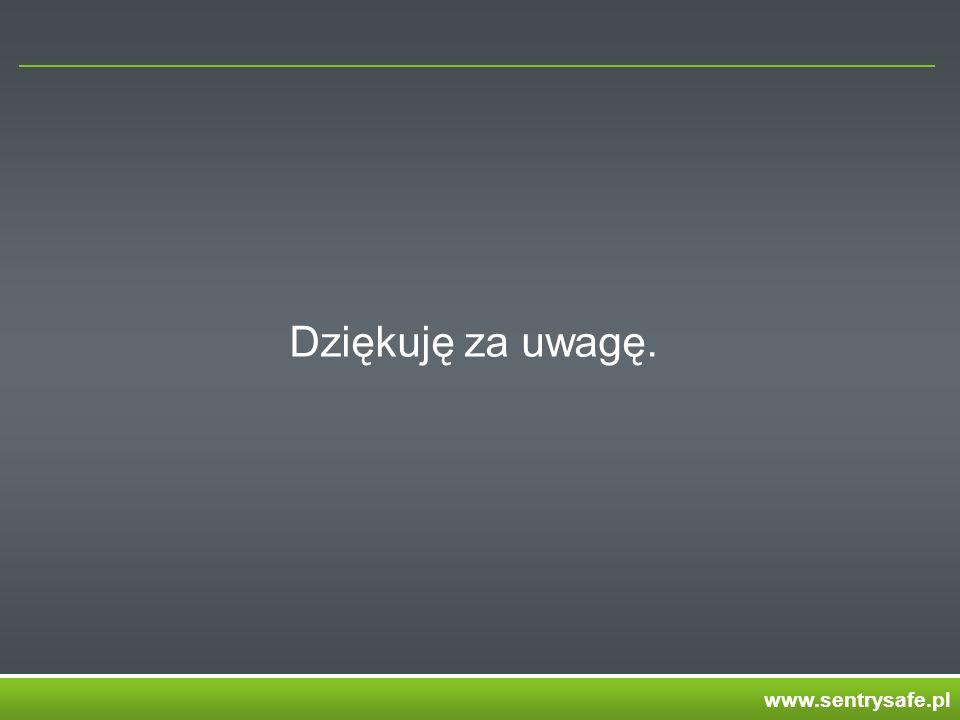 Dziękuję za uwagę. www.sentrysafe.pl