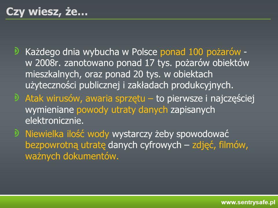 Czy wiesz, że… Każdego dnia wybucha w Polsce ponad 100 pożarów - w 2008r. zanotowano ponad 17 tys. pożarów obiektów mieszkalnych, oraz ponad 20 tys. w