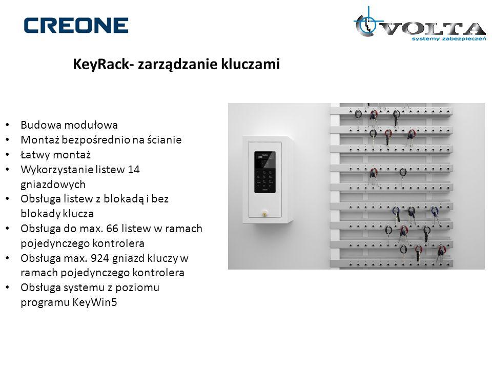 KeyRack- zarządzanie kluczami Budowa modułowa Montaż bezpośrednio na ścianie Łatwy montaż Wykorzystanie listew 14 gniazdowych Obsługa listew z blokadą