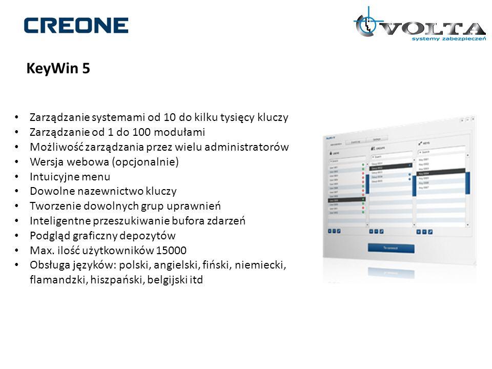 Zarządzanie systemami od 10 do kilku tysięcy kluczy Zarządzanie od 1 do 100 modułami Możliwość zarządzania przez wielu administratorów Wersja webowa (