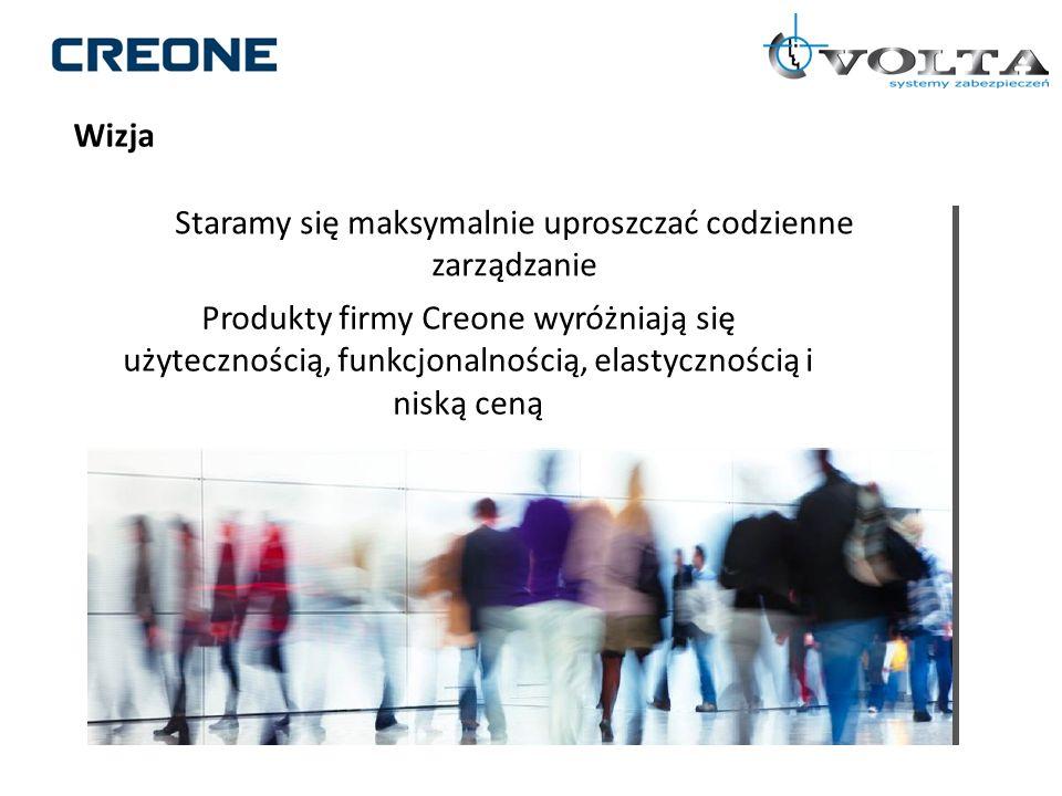 Wizja Staramy się maksymalnie uproszczać codzienne zarządzanie Produkty firmy Creone wyróżniają się użytecznością, funkcjonalnością, elastycznością i