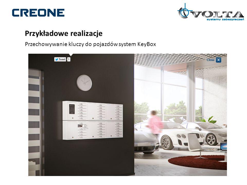 Przykładowe realizacje Przechowywanie kluczy do pojazdów system KeyBox
