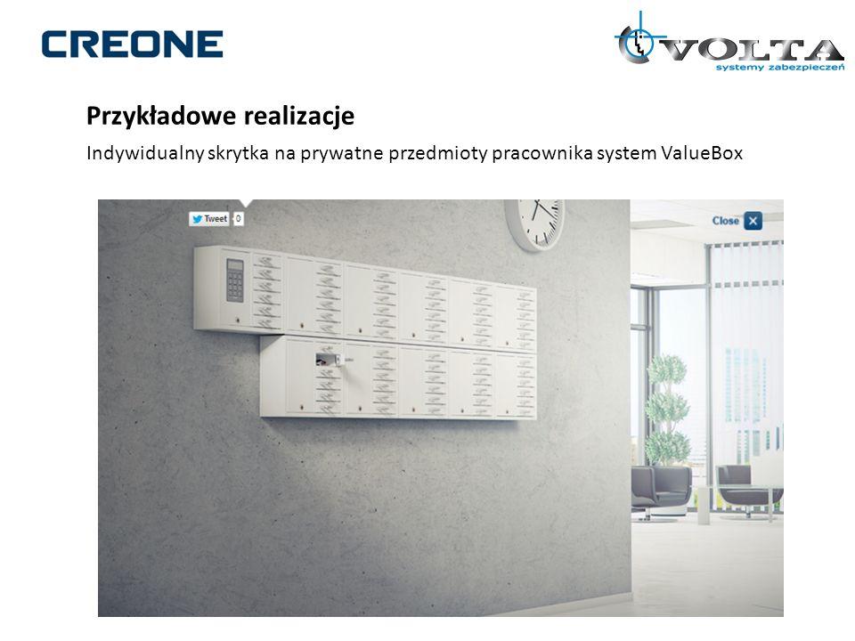 Przykładowe realizacje Indywidualny skrytka na prywatne przedmioty pracownika system ValueBox