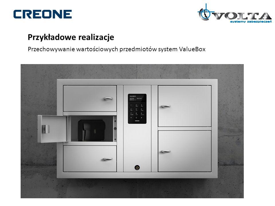 Przykładowe realizacje Przechowywanie wartościowych przedmiotów system ValueBox