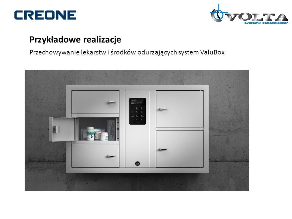Przykładowe realizacje Przechowywanie lekarstw i środków odurzających system ValuBox