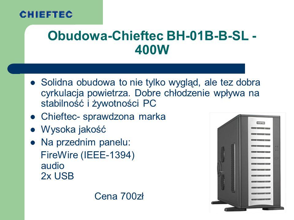 Zasilacz Chieftec (dostarczony z obudową) Szybki komputer potrzebuje dużej ilości prądu.