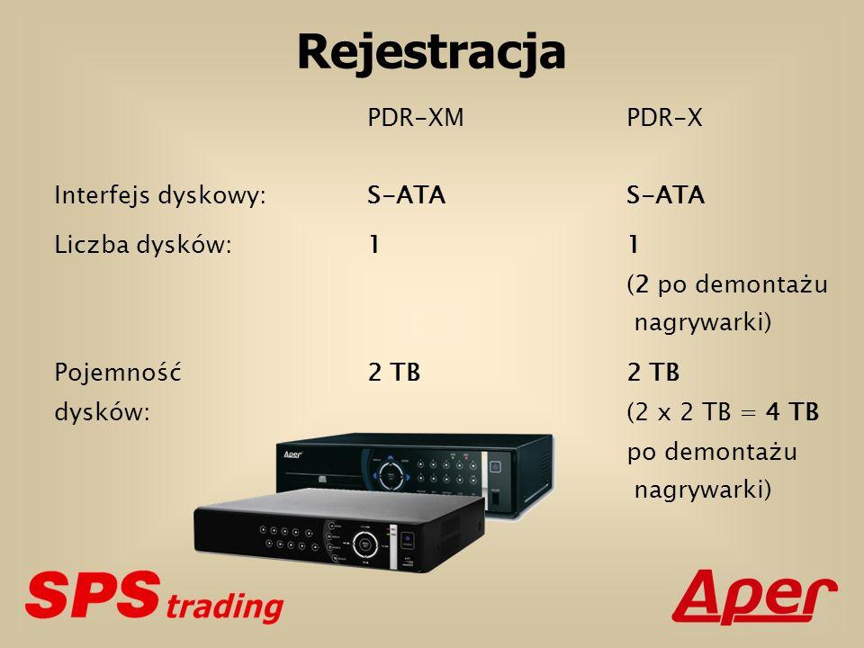 Rejestracja PDR-XMPDR-X Interfejs dyskowy:S-ATAS-ATA Liczba dysków:1 1 (2 po demontażu nagrywarki) Pojemność2 TB 2 TB dysków:(2 x 2 TB = 4 TB po demon