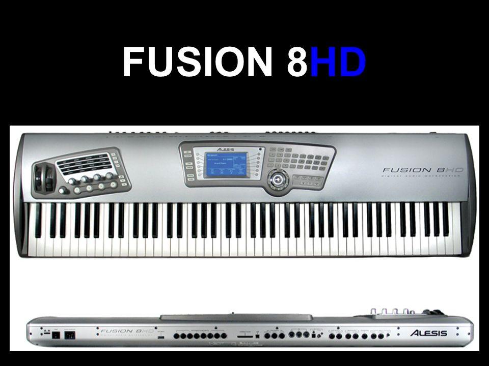 Specyfikacja 88 półważonych klawiszy, 4 zintegrowane typy syntezatora: Simple Playback, Virtual Analog, FM oraz Physical Modeling, Możliwość 8 ścieżkowego nagrywania z 24-bitową jakością Wewnętrzny dysk twardy o pojemności 40GB 24-bitowy sampler z możliwością edycji ścieżki Wewnętrzna pamięć rozszerzalna z 64MB do 192MB 32 scieżkowy sekwenser MIDI ze zintegrowanym wielościeżkowym, cyfrowym playbackiem Możliwość składowania dźwięków i programów na dysku twardym (łatwy dostęp) Wbudowane pianino oparte na uznanym Holy Grail Piano od Q Up Arts® Port USB, czytnik kart Compact Flash Wielokanałowe opcje wejścia/wyjścia w obu trybach (S/PDIF, ADAT Lightpipe) Duży wyświetlacz LCD 240x128 W pełni ustawialne potencjometry, by trzymać rękę na pulsie Możliwość importu i konwersji plików WAVE, AIFF, Akai S-1000/3000, SoundFonts
