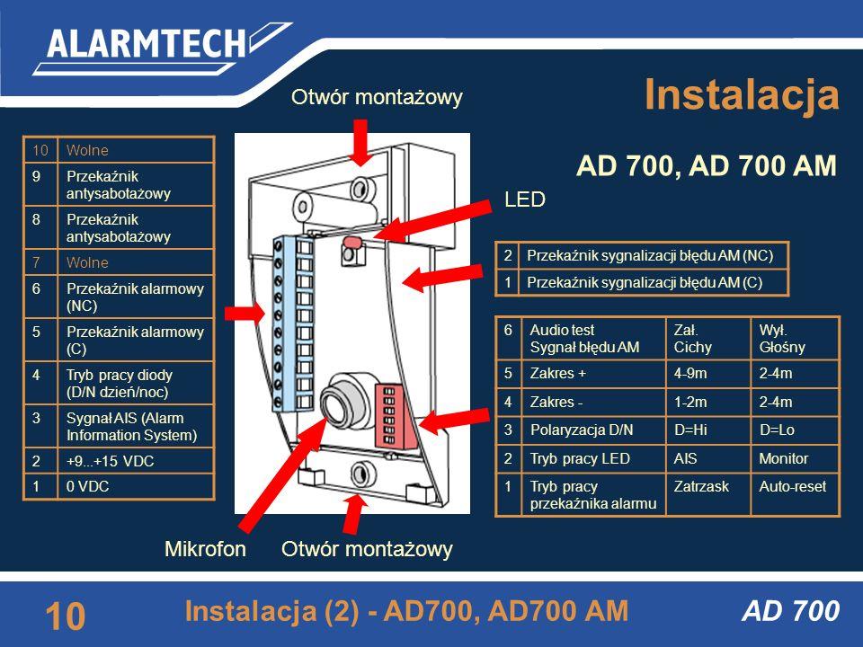 AD 700 9 Instalacja (1) Instalacja