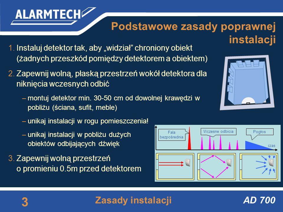 AD 700 2 Nadrzędzia AD-link Dostępne narzędzia Tester ADT 700 Program AD-link –3D widmo mocy odebranego sygnału akustycznego –odczyt wewnętrznego logu