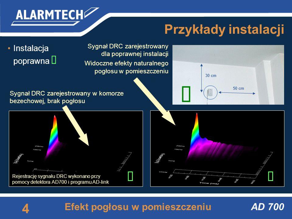 AD 700 3 Zasady instalacji Podstawowe zasady poprawnej instalacji 1.Instaluj detektor tak, aby widział chroniony obiekt (żadnych przeszkód pomiędzy de