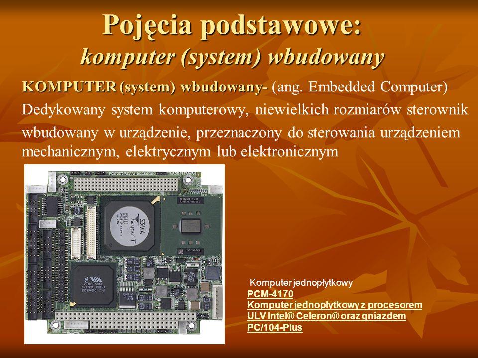 Pojęcia podstawowe: komputer (system) wbudowany KOMPUTER (system) wbudowany- KOMPUTER (system) wbudowany- (ang. Embedded Computer) Dedykowany system k