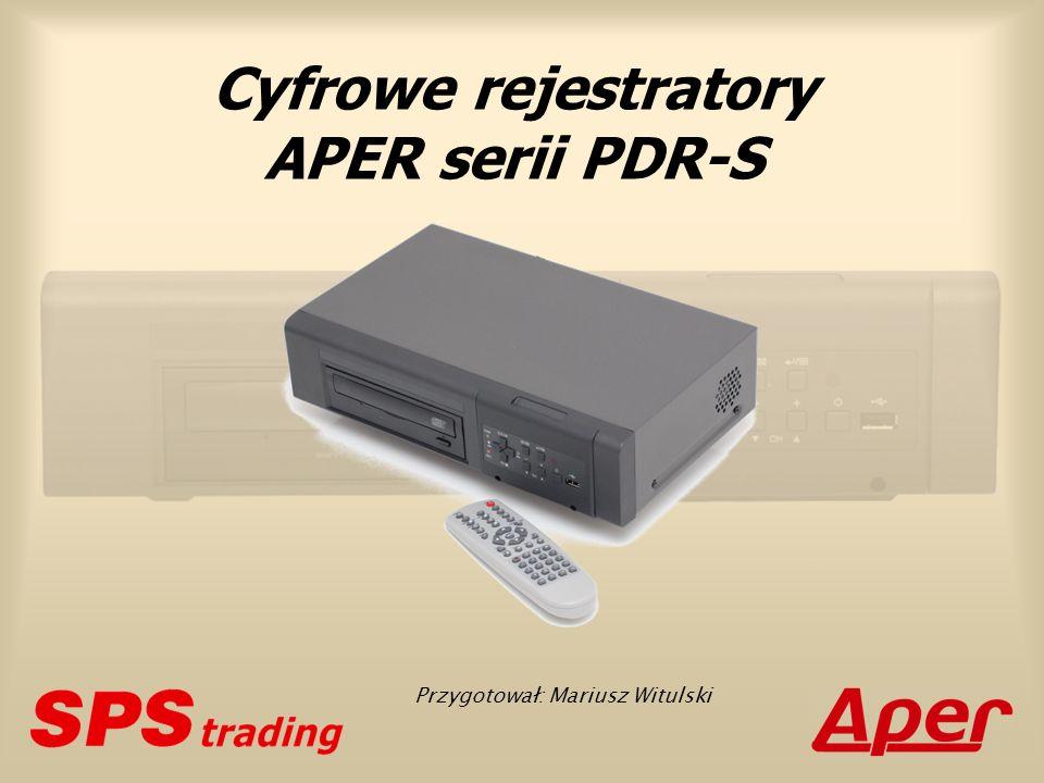 Podstawowe cechy Klasa rejestratorów: autonomiczne (stand-alone) Platforma systemowa: Linux wbudowany (Embedded Linux) Wielozadaniowość: triplex+ PDR-S1000 (4-kan.) PDR-S2000 (4, 8, 16-kan.)