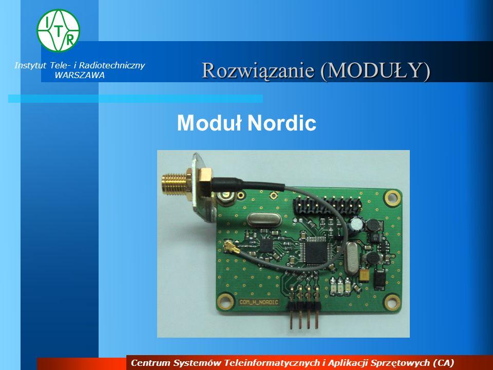 Instytut Tele- i Radiotechniczny WARSZAWA Centrum Systemów Teleinformatycznych i Aplikacji Sprzętowych (CA) Rozwiązanie (MODUŁY) Moduł Nordic