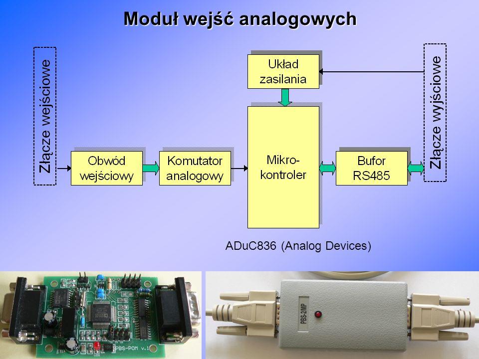 19 Moduł wejść analogowych ADuC836 (Analog Devices)