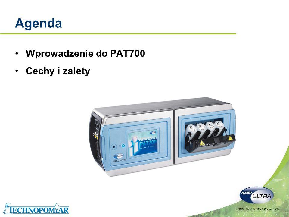 Copyright 2006 Hach Ultra Analytics – Page 13 PAT700 – wej/wyj użytkownika Trzy niezależne, izolowane wyjścia 4-20 mA –TOC (OWO) –Przewodność –Temperatura Port szeregowy RS-232C –ASCII –Dwukierunkowy, komunikacja zapytanie/odpowiedź –1200 bodów, 8 bitów danych, 1 bit stopu i nieparzystości Drukarka szeregowa