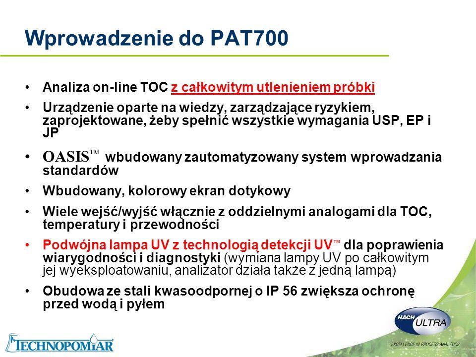 Copyright 2006 Hach Ultra Analytics – Page 4 Wprowadzenie do PAT700 Analiza on-line TOC z całkowitym utlenieniem próbki Urządzenie oparte na wiedzy, z