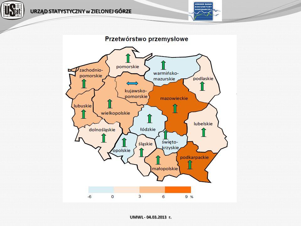 URZĄD STATYSTYCZNY w ZIELONEJ GÓRZE UMWL - 04.03.2013 r.