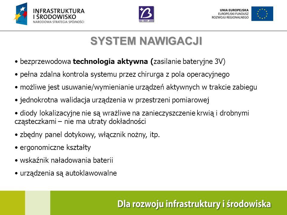 Navigation Training & Education Internal Use Only bezprzewodowa technologia aktywna (zasilanie bateryjne 3V) pełna zdalna kontrola systemu przez chiru